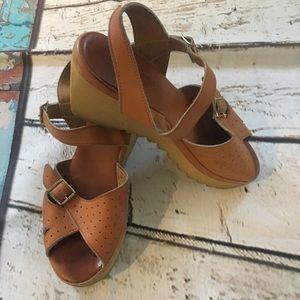 Vintage 70s 80s Cherokee Of California Wedge Shoes